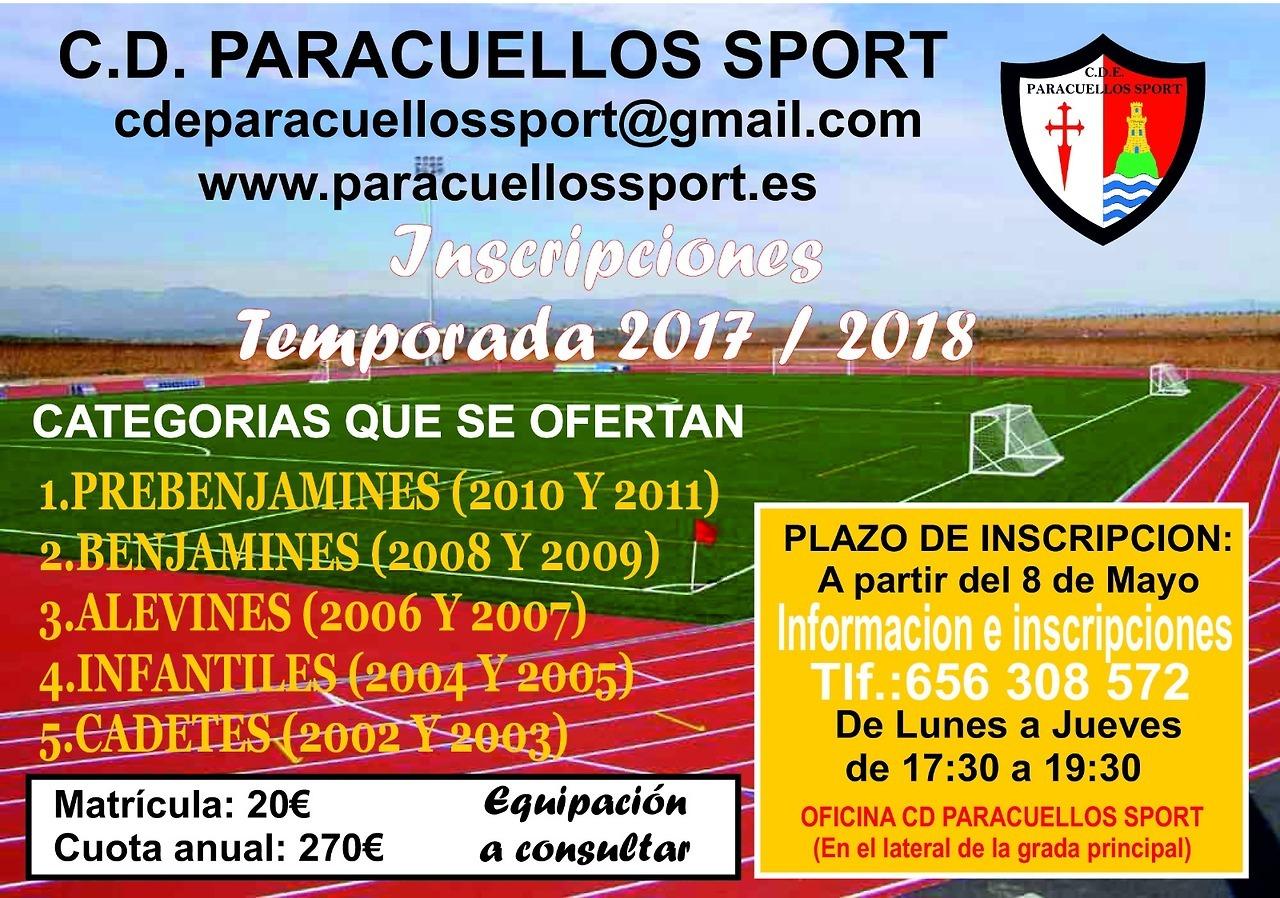 ABIERTO EL PLAZO DE INSCRIPCIÓN PARA LA TEMPORADA 2017/2019.