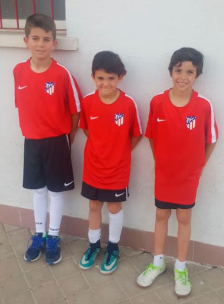 Esta semana tres de nuestros jugadores han sido invitados por el Atlético de Madrid